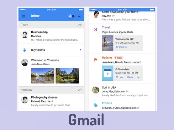 Material design gmail